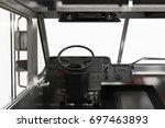 van interior dashboard steering ... | Shutterstock . vector #697463893