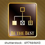 gold badge or emblem with...   Shutterstock .eps vector #697464643