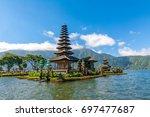 bali water temple   pura ulun...   Shutterstock . vector #697477687
