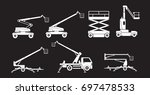 lifting machine icons sets.... | Shutterstock .eps vector #697478533