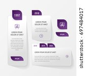 set of graphic elements and... | Shutterstock .eps vector #697484017
