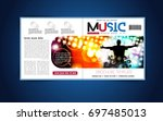 brochure layout | Shutterstock .eps vector #697485013