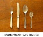 cutlery  tableware . tableware... | Shutterstock . vector #697489813