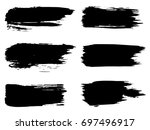 vector collection of artistic... | Shutterstock .eps vector #697496917
