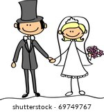 wedding picture  bride and... | Shutterstock .eps vector #69749767