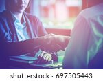 business team working on...   Shutterstock . vector #697505443