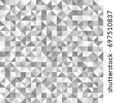 silver right triangle pattern.... | Shutterstock .eps vector #697510837