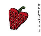 strawberry fruit icon   Shutterstock .eps vector #697521997
