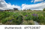 Lupine Flowers And Church Of...