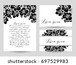 vintage delicate invitation... | Shutterstock . vector #697529983