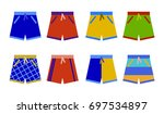 swim shorts collection.... | Shutterstock .eps vector #697534897