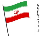 flag of iran   iran flag waving ... | Shutterstock .eps vector #697537543