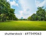 beautiful morning light in... | Shutterstock . vector #697549063