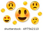 yellow emoticons in social