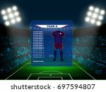 soccer jersey kit with team... | Shutterstock .eps vector #697594807