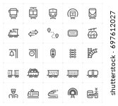 mini icon set   train and... | Shutterstock .eps vector #697612027