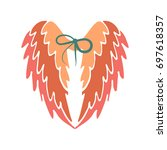 stylish colorful wings. vector...   Shutterstock .eps vector #697618357