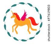 unicorn vector icon isolated on ...   Shutterstock .eps vector #697619803