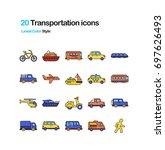 transportation color vector... | Shutterstock .eps vector #697626493
