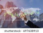 future of financial business... | Shutterstock . vector #697638913