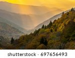 sunrays in great smoky... | Shutterstock . vector #697656493