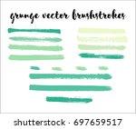 set of vector brush strokes ... | Shutterstock .eps vector #697659517