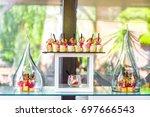 buffet table corporate | Shutterstock . vector #697666543
