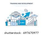 training and development ... | Shutterstock .eps vector #697670977