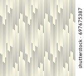abstract vertical line ornament.... | Shutterstock .eps vector #697675387