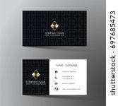 modern business card design... | Shutterstock .eps vector #697685473