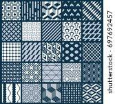ornamental black and white... | Shutterstock . vector #697692457