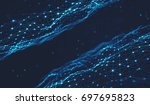 abstract digital background... | Shutterstock . vector #697695823