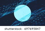 abstract digital background... | Shutterstock . vector #697695847