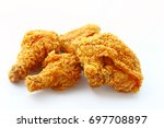 fried chicken isolated on white ... | Shutterstock . vector #697708897