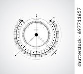 technical blueprint  black and... | Shutterstock . vector #697711657