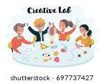 vector cartoon illustration... | Shutterstock .eps vector #697737427