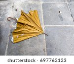 Abandoned Broken Gold Umbrella...