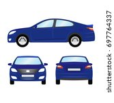 car vector template on white... | Shutterstock .eps vector #697764337
