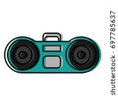 boombox stereo icon   Shutterstock .eps vector #697785637