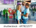 let journey begin. portrait of... | Shutterstock . vector #697821577