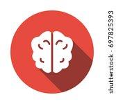 brain icon   Shutterstock .eps vector #697825393