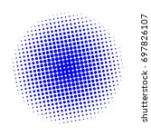 halftone circles  halftone dots ... | Shutterstock .eps vector #697826107