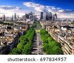 view on avenue de la grande... | Shutterstock . vector #697834957