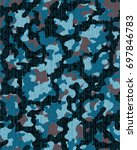abstract camouflage pattern.... | Shutterstock .eps vector #697846783