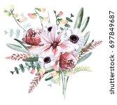 flower bouquet | Shutterstock . vector #697849687