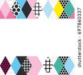 card banner template frame for... | Shutterstock .eps vector #697860337