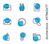 vector illustration of 9 tools...