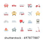 transport vector icons  flat... | Shutterstock .eps vector #697877887