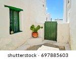 greek island architecture. an... | Shutterstock . vector #697885603