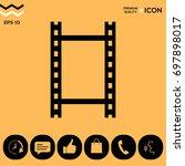 camera roll  photographic film  ... | Shutterstock .eps vector #697898017